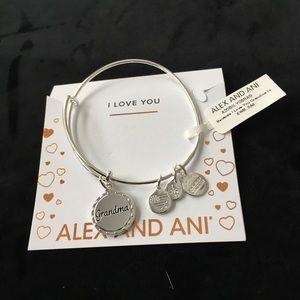 New silver bangle charm bracelet for grandmother